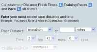 Marathon Pace Calculator